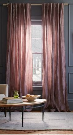 pretty light #pink curtains again dark #grey walls http://rstyle.me/n/i83ivr9te