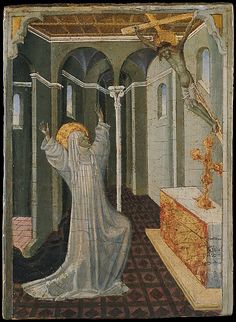 Saint Catherine of Siena Receiving the Stigmata, Giovanni di Paolo (Giovanni di Paolo di Grazia)  (Italian, Siena 1398–1482 Siena)