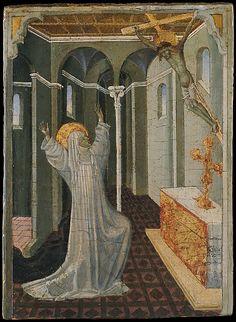 Saint Catherine of Siena Receiving the Stigmata, Giovanni di Paolo (Giovanni di Paolo di Grazia)  (Italian, Siena 1398–1482 Siena)