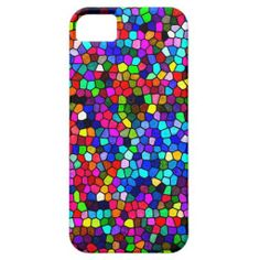 Stained Glass Colors Mosaic iPhone 5 Case by AustinLED