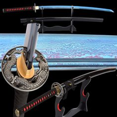 best price shijian swords damascus practice samurai katana hand forged folded steel blue battle ready #practice #swords
