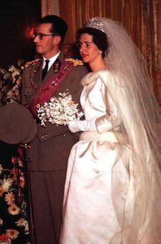 HM King Baudouin I of the Belgians and Doña Fabiola de Mora y Aragón December 15, 1960 Brussels, Belgium