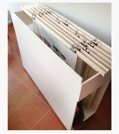 Home art studio organization paper storage 49 ideas Art Studio Storage, Art Studio Organization, Art Storage, Paper Storage, Storage Ideas, Office Storage, Storage Solutions, Organization Ideas, Hanging Storage