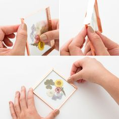 DIY These Pretty Coasters Instead of Buying Flowers for Mom | Brit + Co
