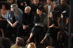Tyga and Kylie Jenner Photos Photos - (L-R) Solange Knowles, Beth Ditto, Tyga, Kylie Jenner, Taraji P. Henson and Zoe Kravitz attend the Alexander Wang Fall 2016 fashion show during New York Fashion Week at St. Bartholomew's Church on February 13, 2016 in New York City. - Alexander Wang - Front Row - Fall 2016 New York Fashion Week