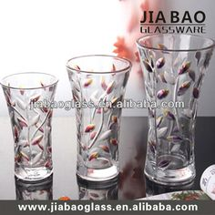 Wholesale elegent glass flower vase different size glass vase for home decorated