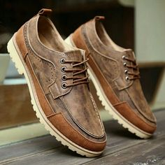Design Men's Casual Leather Oxfords Brogue Wing Tip Lace Up Pointed Toe Oxford Shoe Multicolour Patch Elevator Shoes