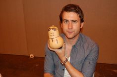 "Neville with his ""Potter Puppet Pal."" THE BEST."