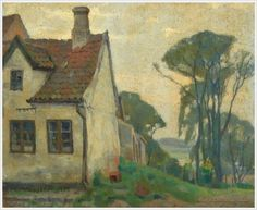 Einar Mogens Wegener (Danish, 1882-1931) «Landscape with house» 1907