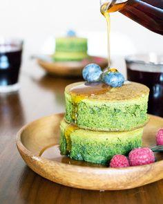 Matcha (Green Tea) Pancakes — Oh, How Civilized