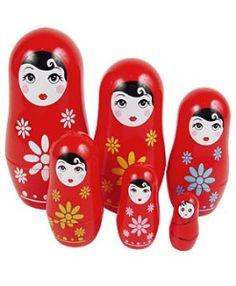 Babushka Matryoshka Russian Nesting Dolls