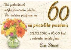 pozvánka k 60 narozeninám vzor Výsledek obrázku pro pozvánka na oslavu 50. narozenin text  pozvánka k 60 narozeninám vzor