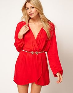 Find the best selection of Love Wrap Dress. Shop today with free delivery and returns (Ts&Cs apply) with ASOS! Xmas Party Dresses, Holiday Dresses, Fashion Musthaves, Latest Dress, Latest Fashion Clothes, Dress Me Up, Designing Women, Style Guides, Wrap Dress