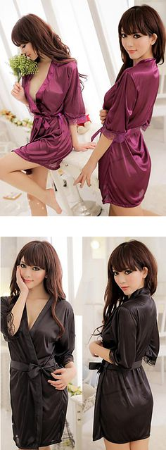 J'adore silk! Chic sexy silk lingerie robe for women who know what they want. Just $4.74.  Only TODAY - 11.11 sale - up to 85% OFF on all categories.