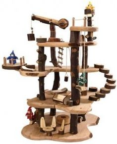 Wood Fort/Doll Houses for Kids, for open-end play. Possible to remodel/rebuilt your house/fort, so it keeps changing. Fun for boys and girls!  Add dolls, fairies, knights, dino's and even fabrics, leafs, stones, or any other nature treasure... For year and years of playtime!