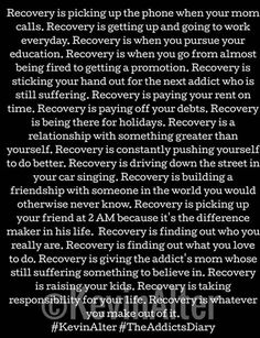 Many people struggling with drug addiction think that recovery is nearly impossible for them. They've heard the horror stories of painful withdrawal symptoms, they can't imagine life without drugs, and they can't fathom actually being able to get. Sobriety Quotes, Relapse Quotes, Addiction Recovery Quotes, Recovering Addict, Nicotine Addiction, Celebrate Recovery, Sober Life, Way Of Life, Life Quotes