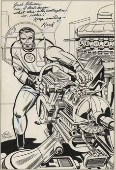 Cap'n's Comics: Reed Richards Of The Fantastic Four by Jack Kirby