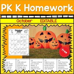 Make homework meaningful for your students with these FREE Homework Calendars. If you have specific objectives this month that are not included you can edit each day's item by highlighting the text you want to change and typing a new skill.Students and their families will enjoy activities such as:· ... Homework Calendar, Kindergarten Homework, Text You, Classroom Management, Families, Students, Change, Activities, Education