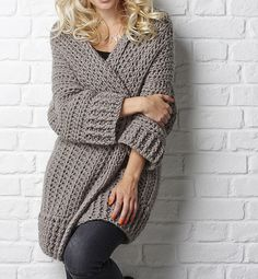 Ravelry: The Big Chill cardigan pattern by Simone Francis