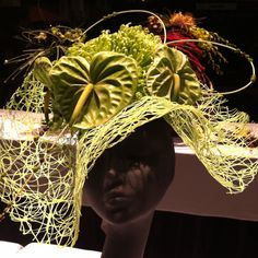 Flower hats from Boston Flower and Garden show