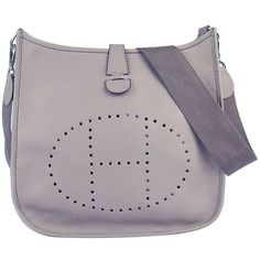 d5ec9924bfdf Hermes Evelyne Shoulder Bag Grey leather 6309 Hermes Birkin