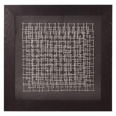 Howard Elliott Abstract Silver Nail Wall Art II