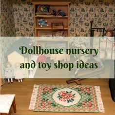 This little dollhouse rug kit in scale looks great in a dollhouse nursery or toy shop. The design is easy to stitch on 18 count canvas, with fine crewel wool - what a wonderful accessory to make your doll's house special! Tent Stitch, Toy Theatre, Thing 1, Needlepoint Kits, Toys Shop, Book Crafts, Dollhouses, Shop Ideas, Dollhouse Miniatures