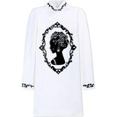 Dolce & Gabbana Short Dress ($2,815) ❤ liked on Polyvore featuring dresses, white, dolce gabbana dresses, long sleeve short dress, long sleeve dresses, long sleeve turtleneck and long sleeve turtleneck dress