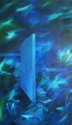 Averno Azul 2012 Oleo s tela 30 x 50
