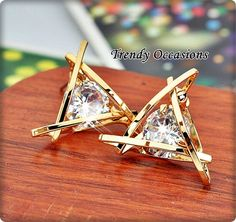 Exquisite 18K Gold Plated AAAAA Cubic Crystal Stud Earrings Bonus: Check out PInk CZ Heart Bracelet Accessory Buy !. Starting at $1