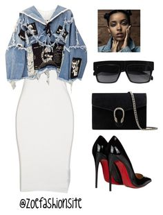 """Two Weeks"" by zoefashionsite on Polyvore featuring DRKSHDW, BLK DNM, Gucci and Christian Louboutin"