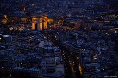 Arc de triomphe and its surroundings at night Gaulle, Triomphe, Empire State Building, Paris France, City Photo, Times Square, Arc, Place, Travel