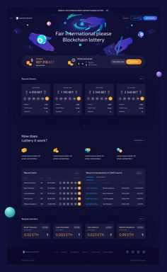 DAO Casino Lottery is the world's top international lottery, built on smart-contracts and powered by blockchain protocol. Login Page Design, Dashboard Design, App Ui Design, Interface Design, User Interface, Game Design, Lottery Website, Ui Design Inspiration, Ui Web
