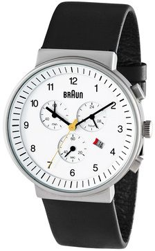 Braun herren armbanduhr xl bn0035bkbkg chronograph leder