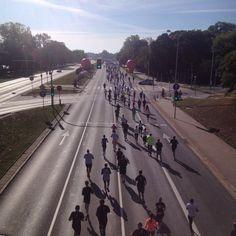 Maraton warszawski miał trasę tuż nad Wisłą