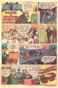 Hostess Snack Cake Ad Batman in Someone is Kidnapping  the Great Chefs of Gotham City