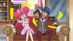 lady jewelpet humor! I can't stop looking at cayenne and especially momona's face and her arm position!!!