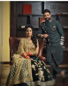 Couple Wedding Dress, Indian Wedding Couple, Indian Wedding Wear, Wedding Couple Photos, Couple Pics, Pre Wedding Photoshoot, Wedding Poses, Wedding Couples, Cute Couples