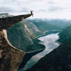 Arms up with just a slight bit of vertigo, Norway can do that to you..