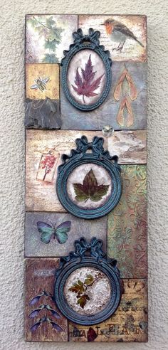 18 Ideas for wall art collage diy Mixed Media Canvas, Mixed Media Art, Arte Pallet, Arte Country, Background Diy, Home And Deco, Medium Art, Clay Art, Painting On Wood