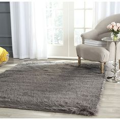 "Safavieh Faux Sheepskin Alexandria Shag Solid Carpet ""x – Gray), Gray – fur Rugs Fur Carpet, Plush Area Rugs, Sheep Rug, Rugs, Faux Sheepskin Rug, Area Rugs, Grey Rugs, Grey Area Rug, Solid Rugs"