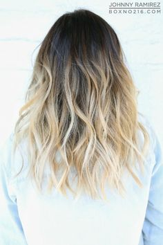 dark to blonde ombré - love this shade of blonde