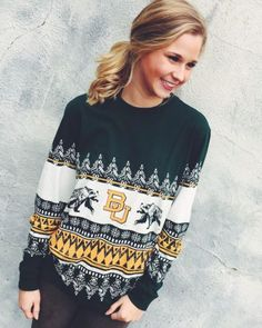 Lauren James Christmas Sweater Tee- Baylor from Shop Southern Roots TX