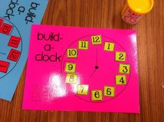 build a clock ... easy math center!