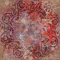 bohemian wallpaper | Vintage Floral Grunge Bohemian Tapestry Stock Photos - Image: 1780293