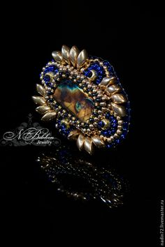 Купить Кольцо с лабрадоритом - тёмно-синий, королевский синий, лабрадорит, кольцо, кольцо с камнем