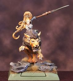 Elarelle the Lioness - Conversion from Games Workshop Figures
