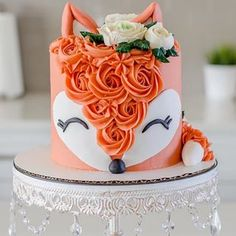 Sweet-Treats Cochrane on Happy Saturday, I hope everyone has a great weekend, here is a look at a fox cake from last weekend! Im still loving the animal head Pretty Cakes, Cute Cakes, Beautiful Cakes, Amazing Cakes, Fox Cake, Savoury Cake, Creative Cakes, Cake Art, Let Them Eat Cake