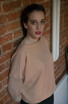 Box Jumper - Antiform #ethicalfashion #peach #upcycling
