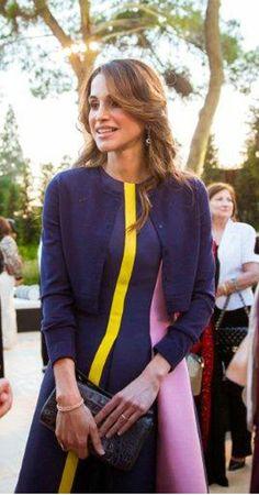 ♔♛Queen Rania of Jordan♔♛...Queen Rania wearing Roksanda Illincic dress on June 21, 2015